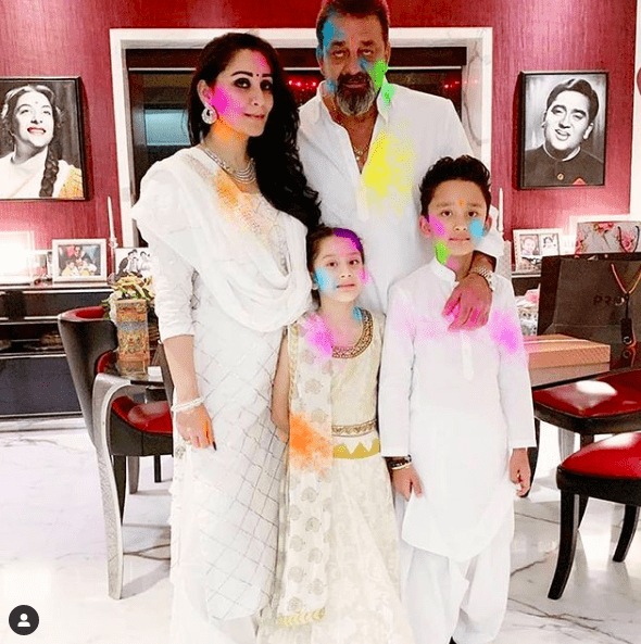 sanjay-dutt-family-holi-bollywood-celebrity-news-india