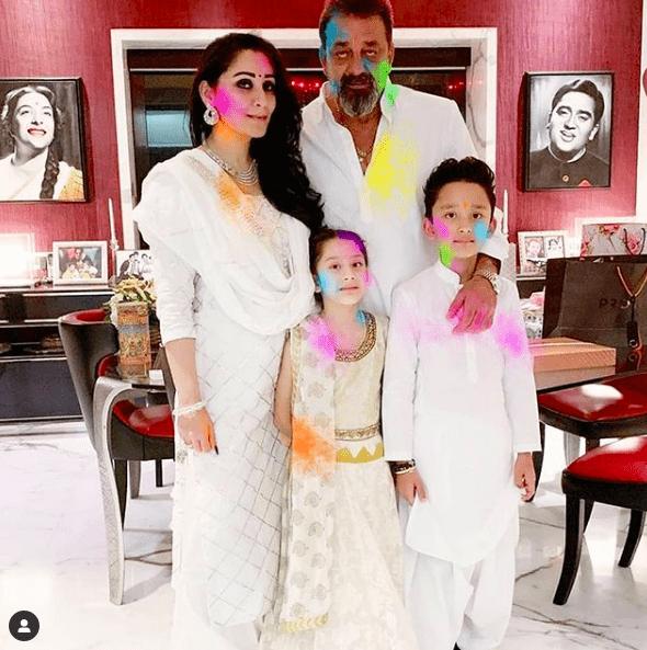 sanjay-dutt-family-holi-bollywood-celebrity-news-india