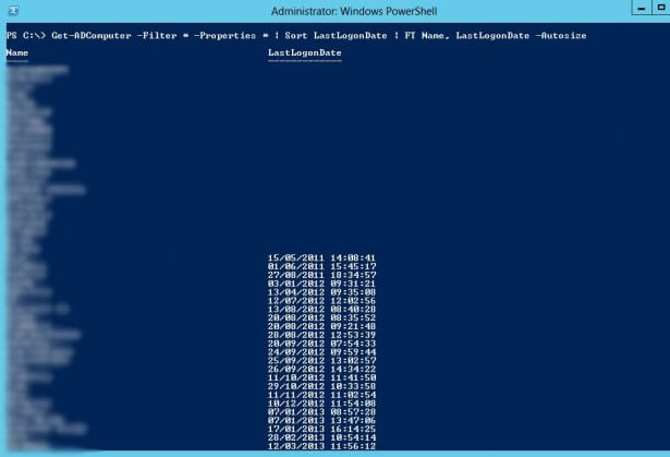 PowerShell: Get-ADComputer to retrieve computer last logon