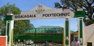 Sigalagala TTI KUCCPS Admission Letter