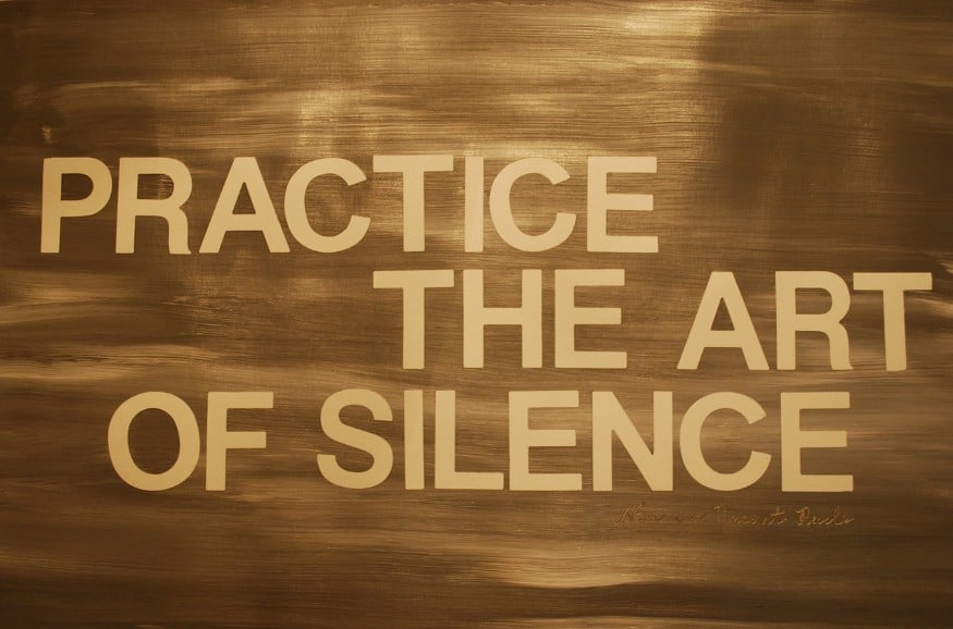 Practice the art of silence | Self Healers