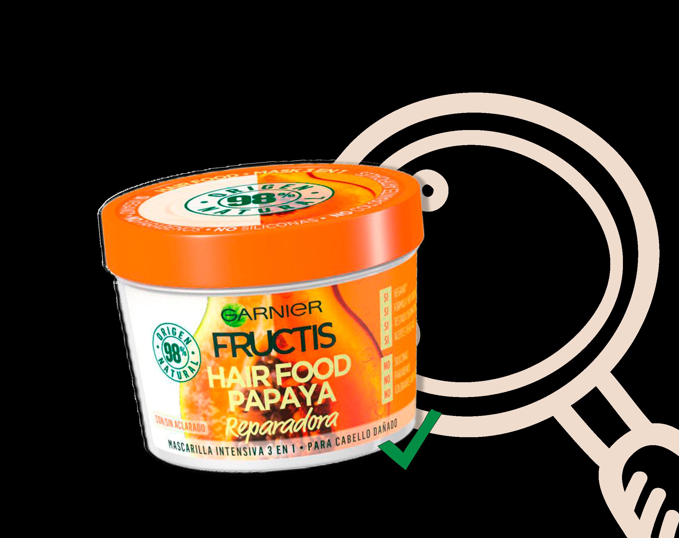 Analizamos Garnier Fructis Hair Food Papaya
