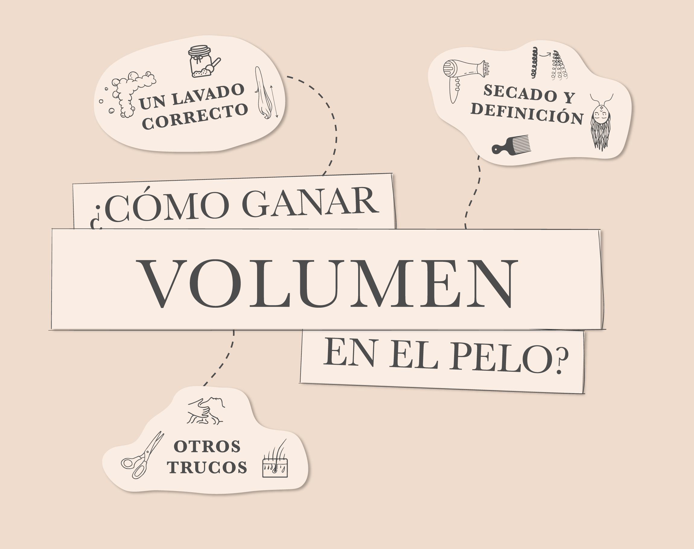 ¿CÓMO GANAR VOLUMEN EN EL PELO?