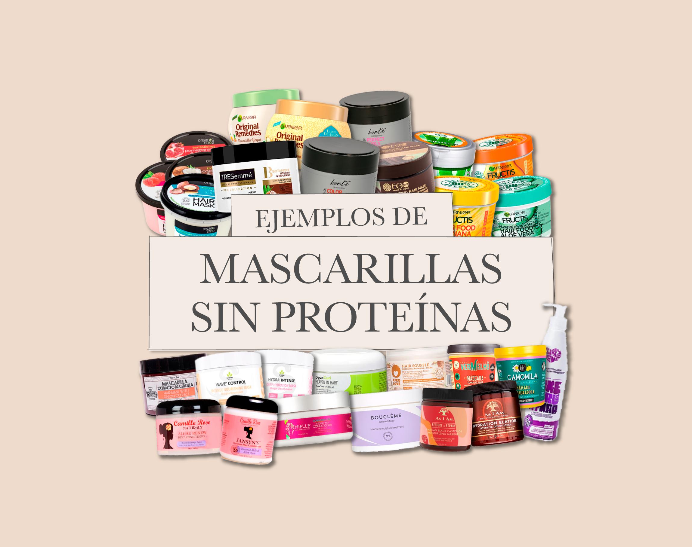 Mascarillas SIN proteínas – ejemplos de productos