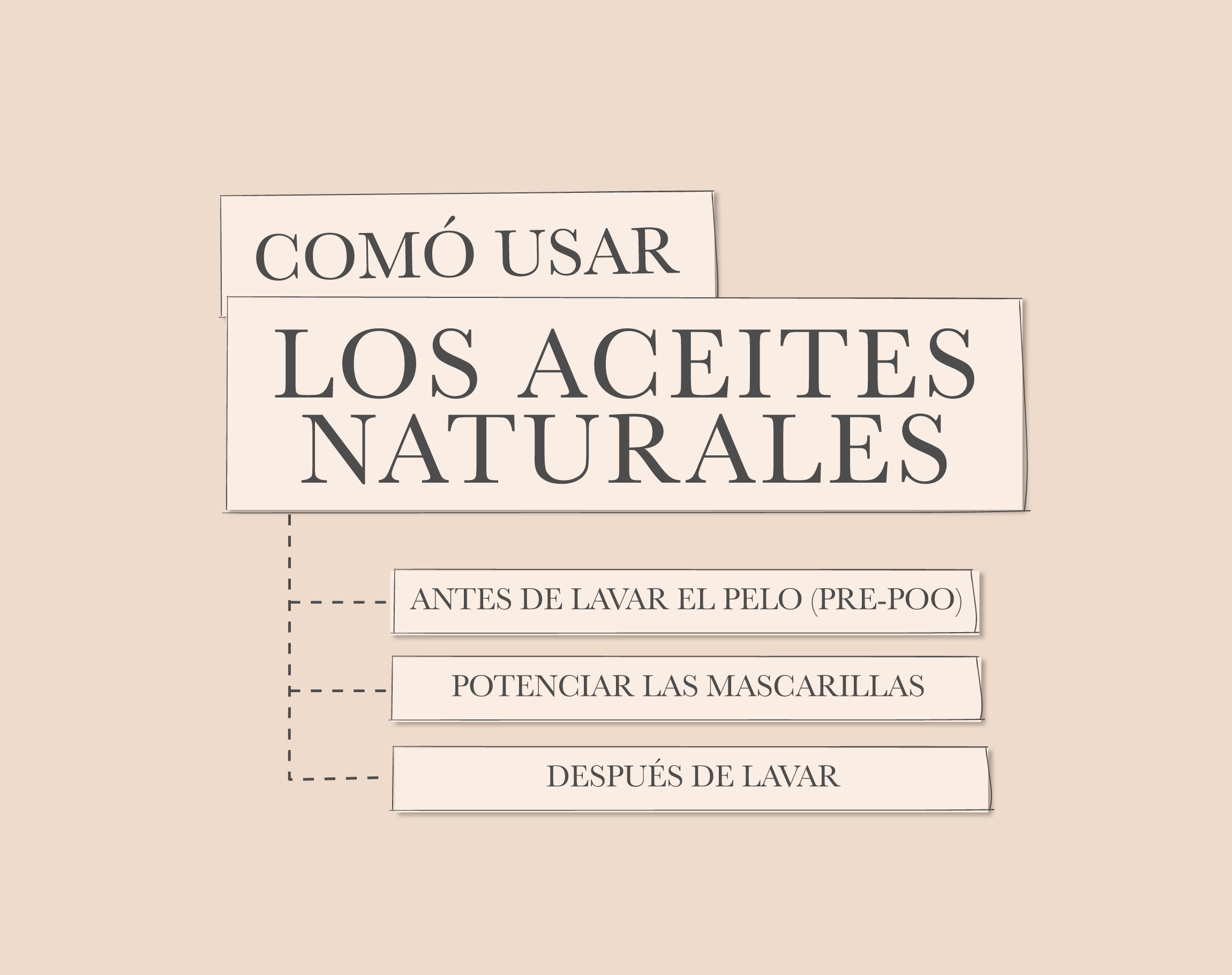 Como usar los aceites naturales para el cabello