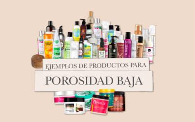 Ejemplos de productos para pelo de porosidad baja