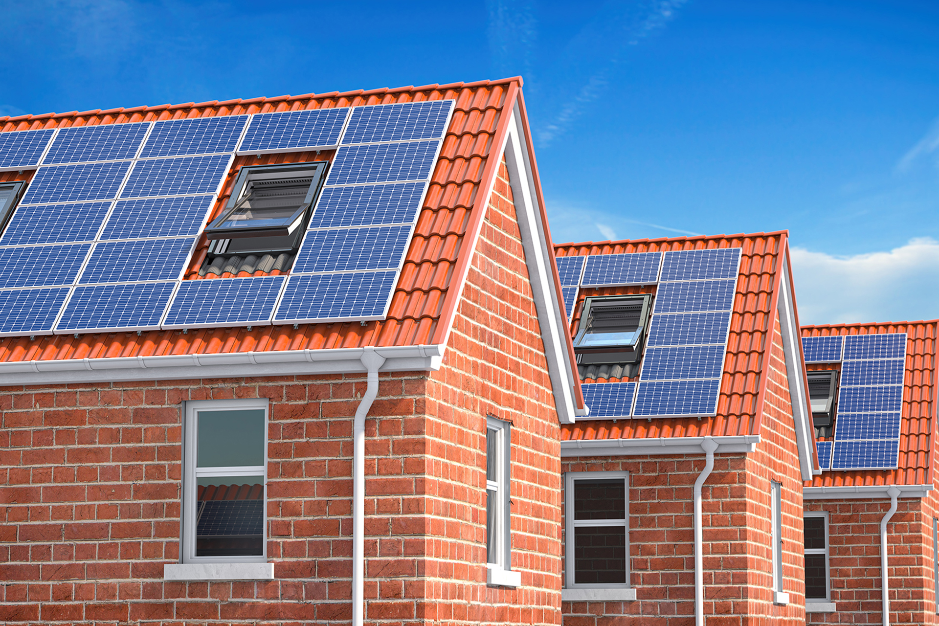 row-of-house-with-solar-panels-on