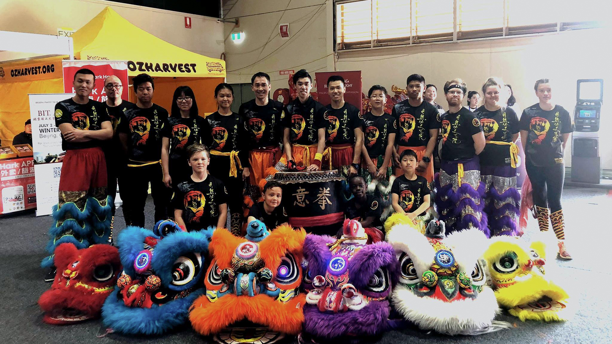 UC Kung Fu Association members pose for group photo