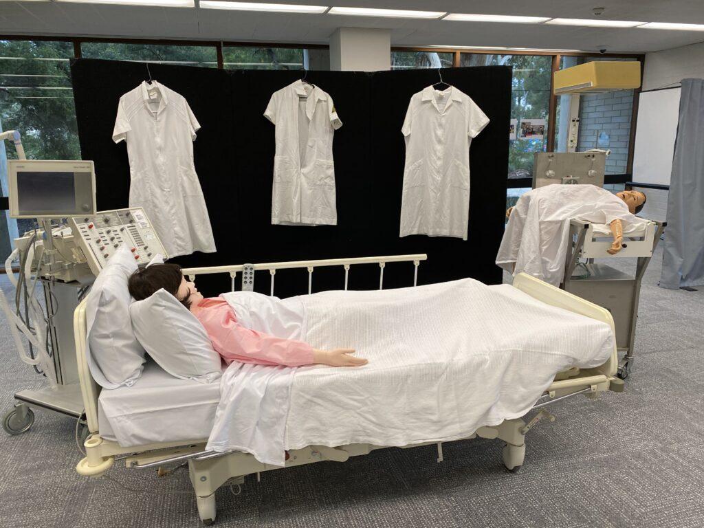 Exhibition includes nurses uniforms and displays of patients