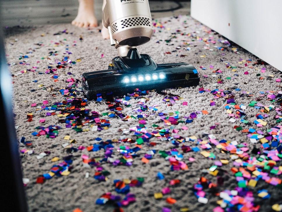 Vacuuming mess