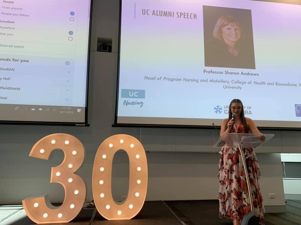 Elise Webb presents at 30 Years of Nursing event