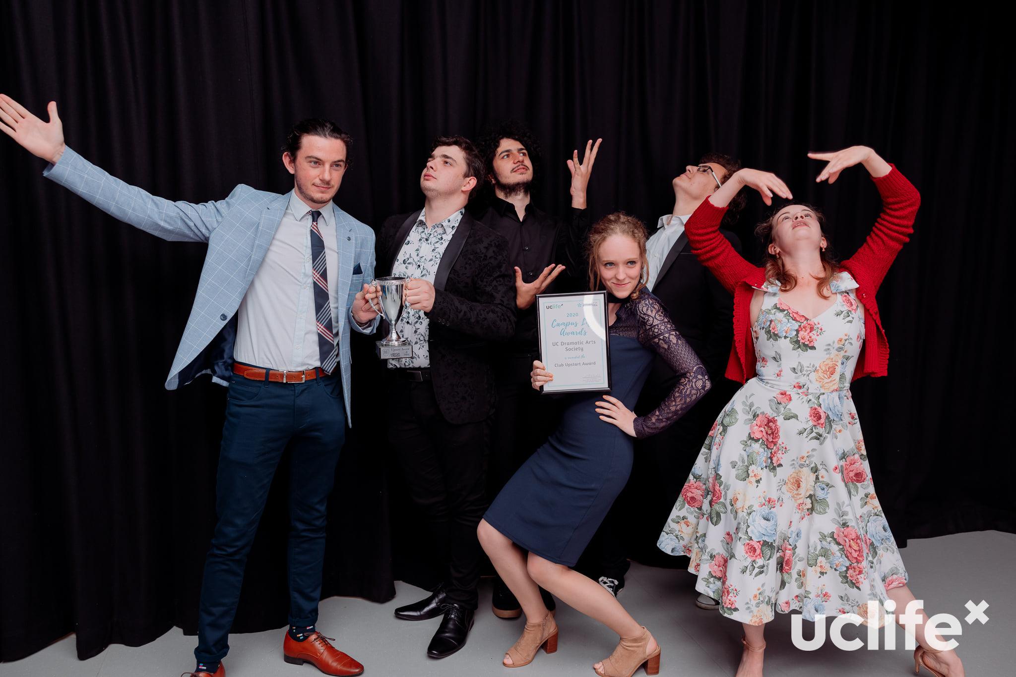 UC Drama club members at the UCLife awards