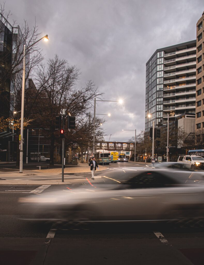 Busy streets of Canberra