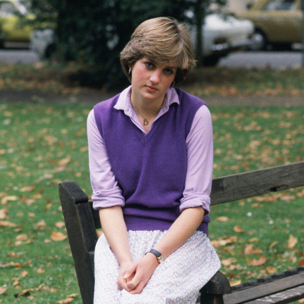 Princess Diana at 19 sits outside