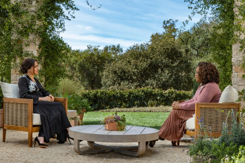 Megan Markle and Ophra Whinfrey interview