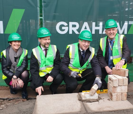 First Bricks laid at new Cancer Centre