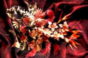 digital printing Digital Textile Printing star flower floral