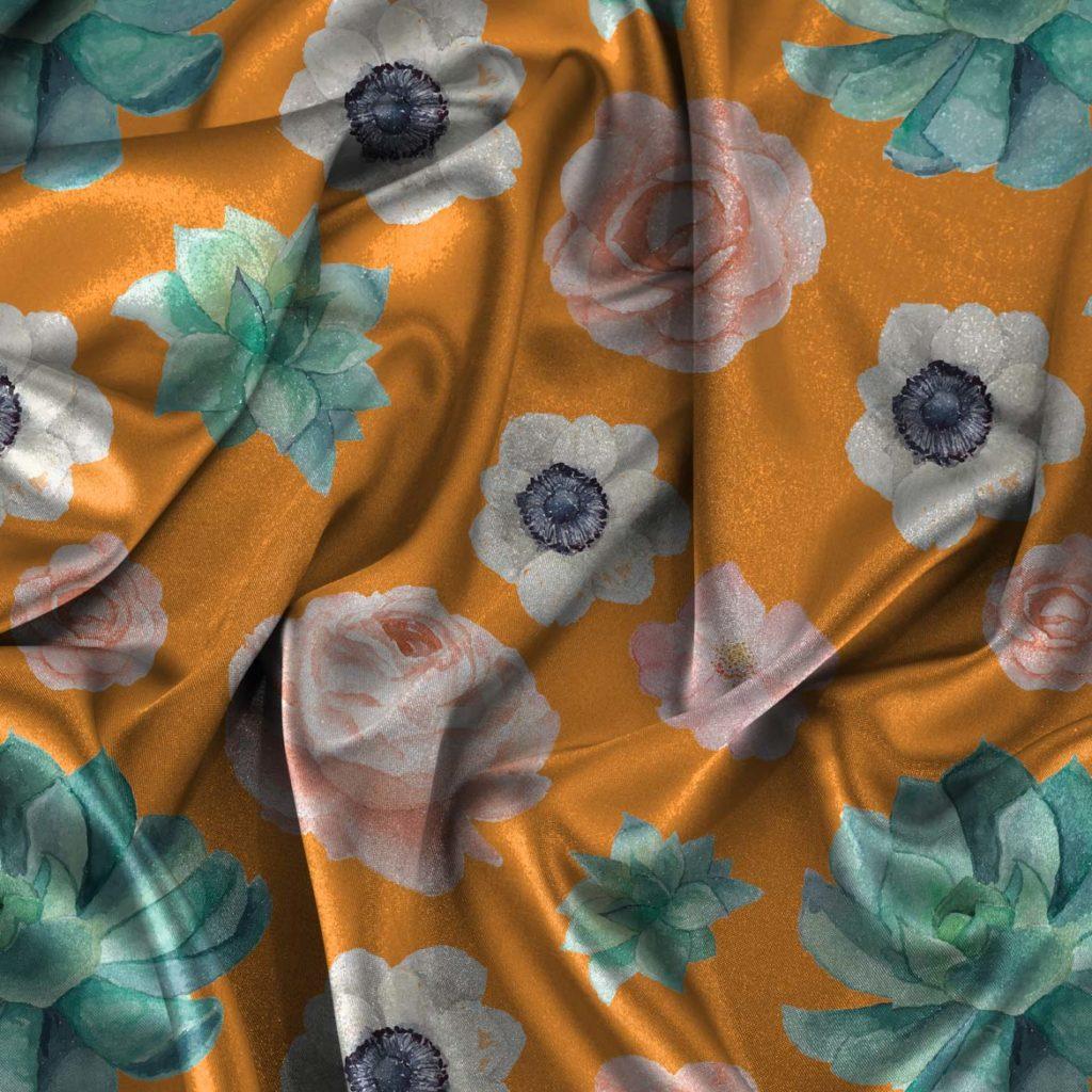 crepe digital print designs on apparel