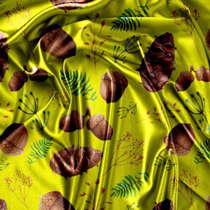 silk satin digital print designs on apparel