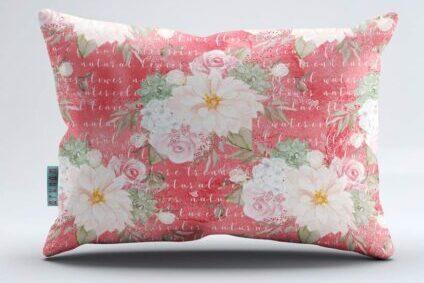 Floral Digital Printed Pillow Cover