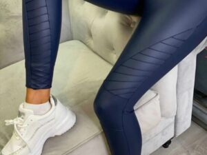 Shirley Navy Biker Leggings