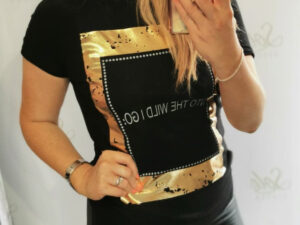 Into The Wild Black/Gold T-Shirt