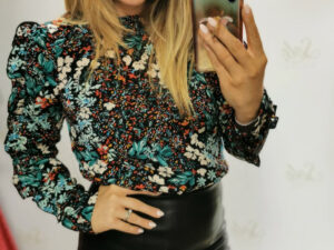 Reese Frill Long Sleeve Blouse