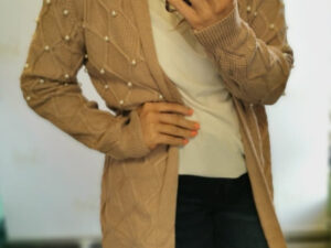 Carrie Pearl Blush Pink Cardigan
