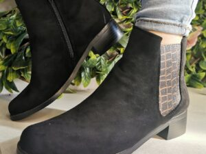 Lunar Fabia II Black Ankle Boot