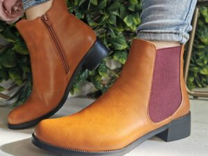 Lunar Tan/burgundy Ankle Boot