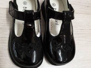 Boulevard Black Patent School Shoes 'Hearts'