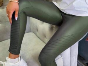 Shirley Khaki Biker Leggings