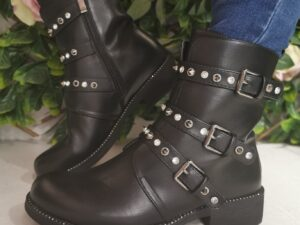 Andie 3 Strap Diamante Boot