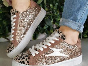 Stacy Rose Sparkle and Leopard Trainers