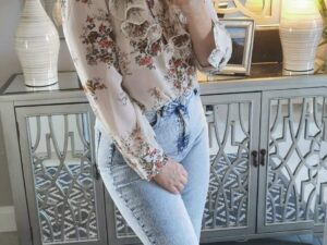 Juliette Frill Cream Blouse