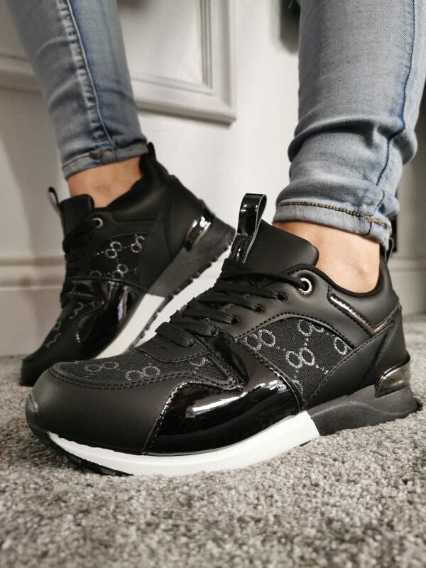 SS Black and White Trainers Sole Sister