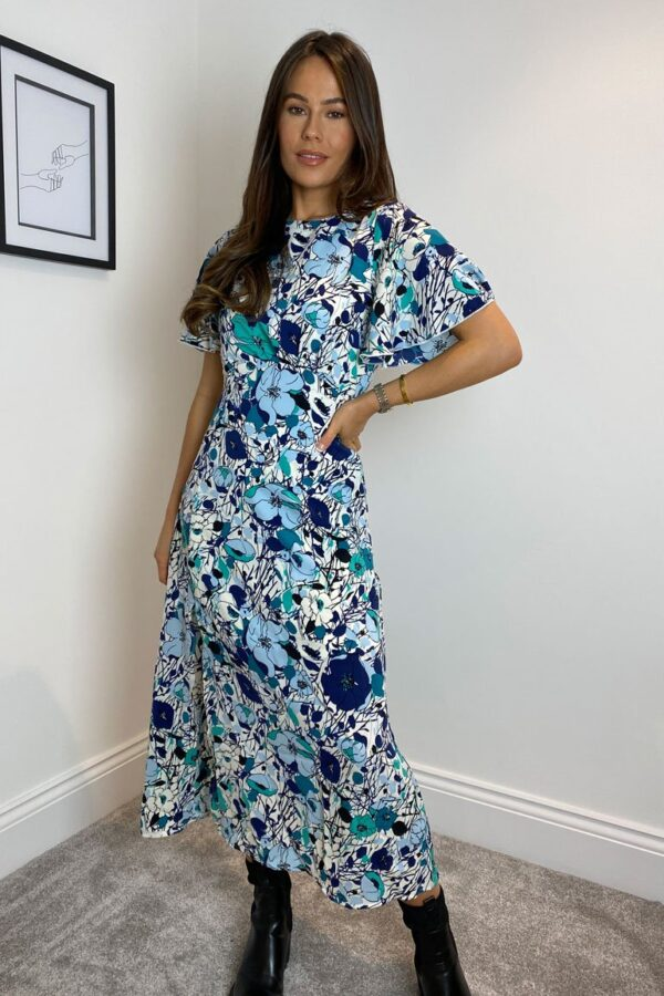 Britney Angel Sleeve navy mint floral sole sister.3