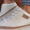 Carmela 67808 White Leather Trainers Sole sister