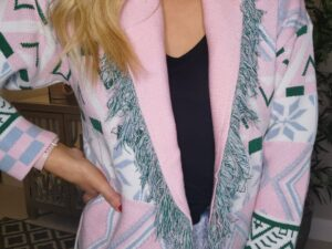 Dakota Pink Wrap Cardigan