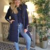 navy long line gilet sole sister