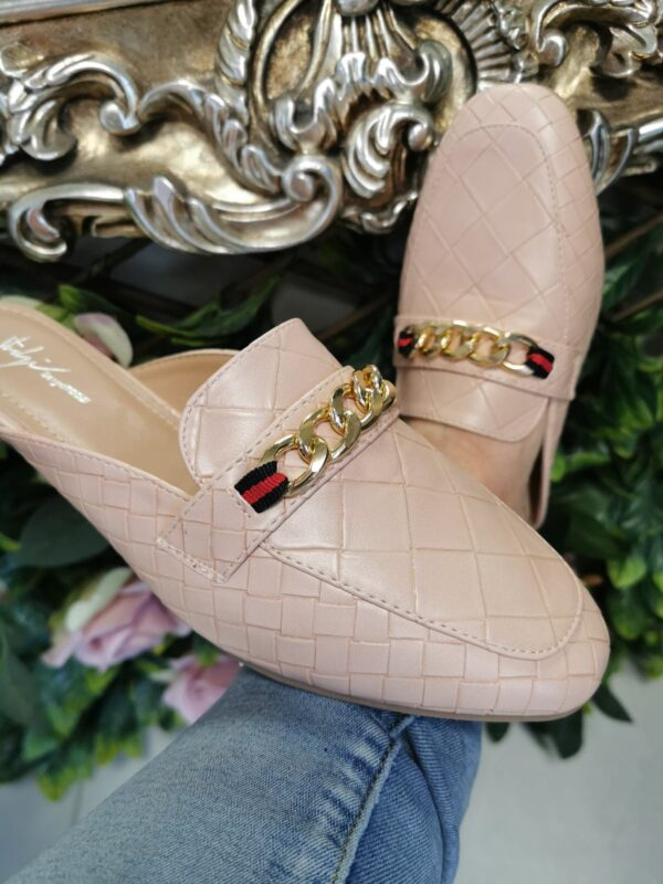 ss Chain Mules in Nude Sole Sister