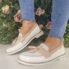 Redz Beige White Multi Loafer Sole Sister