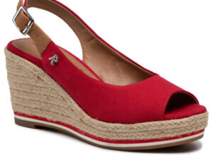 Refresh 72693 Red Canvas Wedge Slingbacks