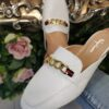 White Chain Mules Sole Sister