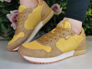 XTI 42402 Mustard Trainers sole sister
