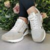 XTI 42626 Beige Wedge Trainers sole sister