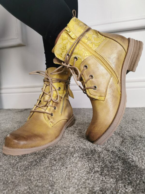 LG Yellow Long Lace Boot sole sister