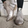 LG Silver Bow Tie Boots sole sister
