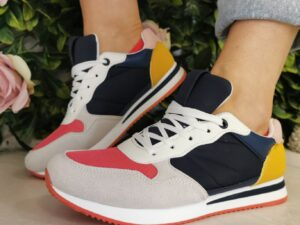 Sole Sister Navy Multi Trainers