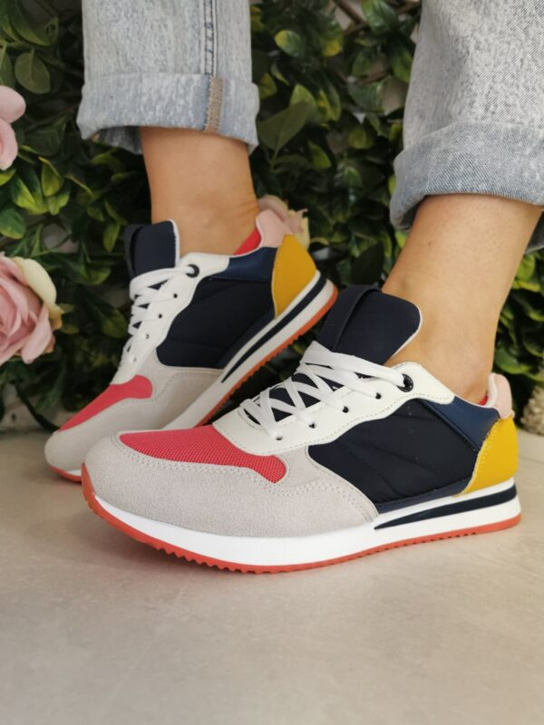 sole sister navy multi trainers 2
